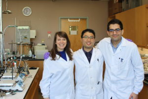 Part of Agora's team in the new electrochemical lab